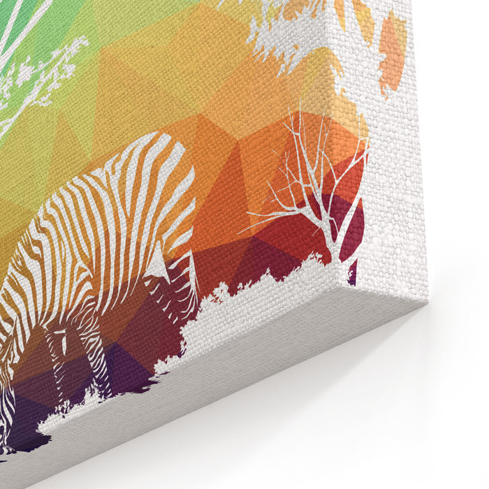 Animal Of Wildlife Zebra Canvas Wall Art Print