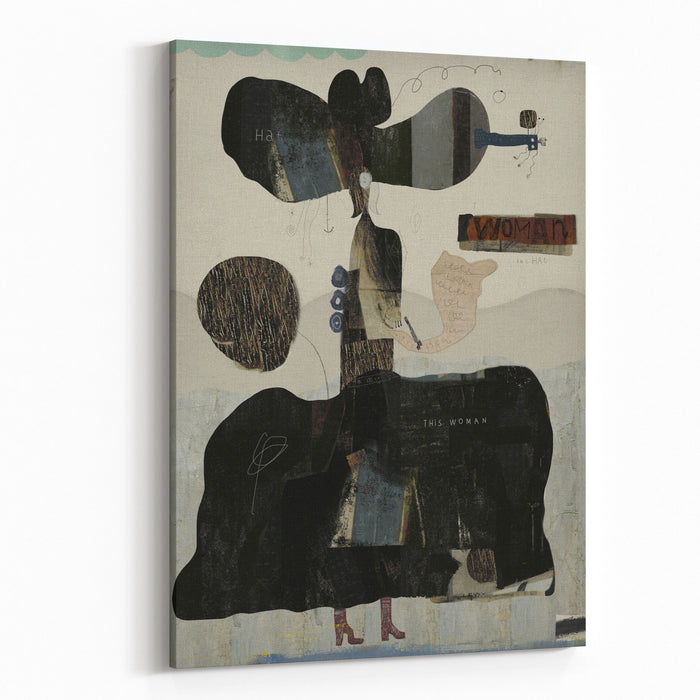 Symbolic Image Of A Woman, Which Is Made In The Art Of Abstraction Canvas Wall Art Print