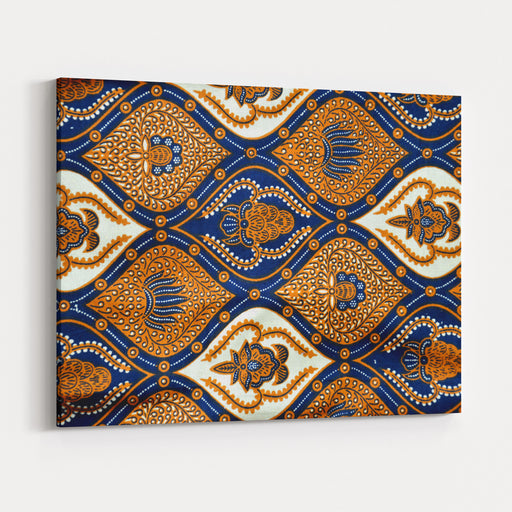 Detailed Patterns Of Indonesia Batik Cloth Canvas Wall Art Print