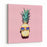 Hipster Pineapple Fashion Accessories And Fruits Vanilla Style Canvas Wall Art Print