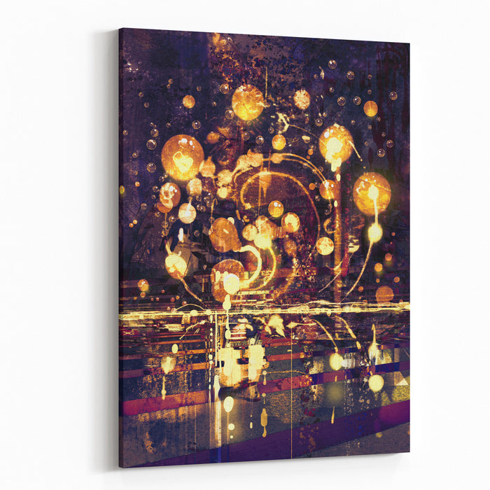 Light Bulb,abstract Painting Concept,illustration Canvas Wall Art Print