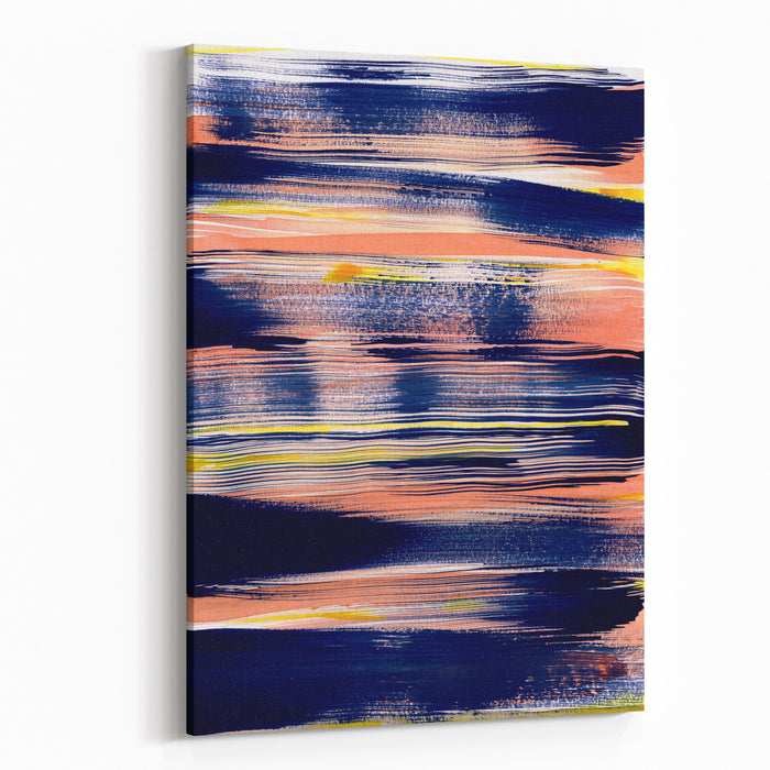 Abstract Painting Mixed Technique Background Canvas Wall Art Print