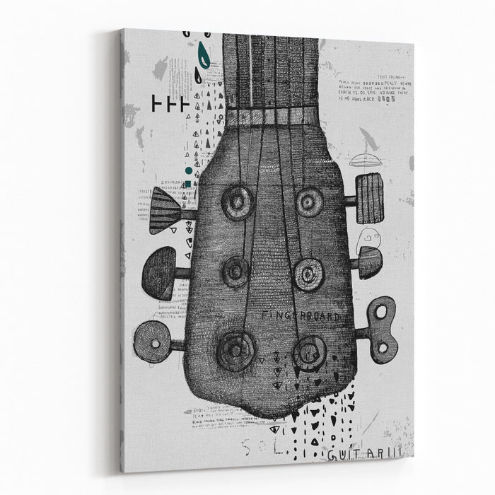 Symbolic Image Of Part Of A Musical Instrument Canvas Wall Art Print