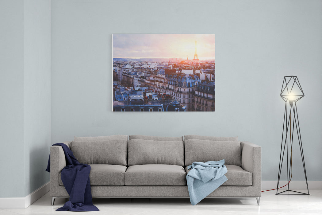 Architecture Of Paris, France, Traditional Buildings And Streets Canvas Wall Art Print