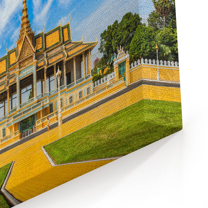 Phnom Penh Tourist Attraction And Famouse Landmark  Royal Palace Complex, Cambodia Canvas Wall Art Print