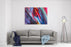 Colorful Lines Background Canvas Wall Art Print