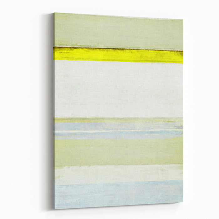 Blue And Yellow Abstract Art Painting Canvas Wall Art Print