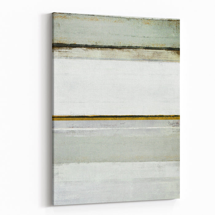 Grey And Brown Abstract Art Painting Canvas Wall Art Print