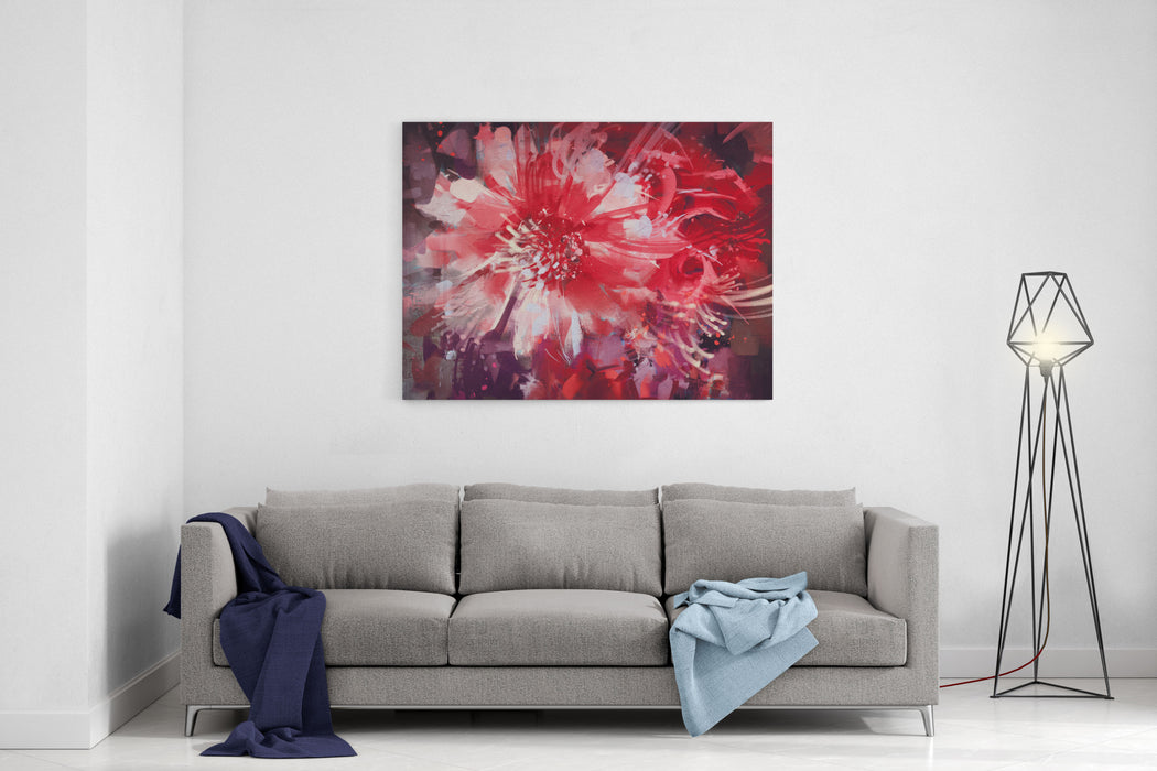 Beautiful Autumn Flowers,old Painting Style,illustration Canvas Wall Art Print