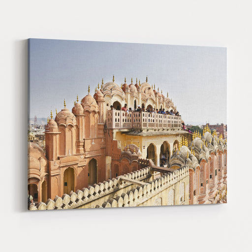 Beautiful Hawa Mahal At Jaipur Canvas Wall Art Print