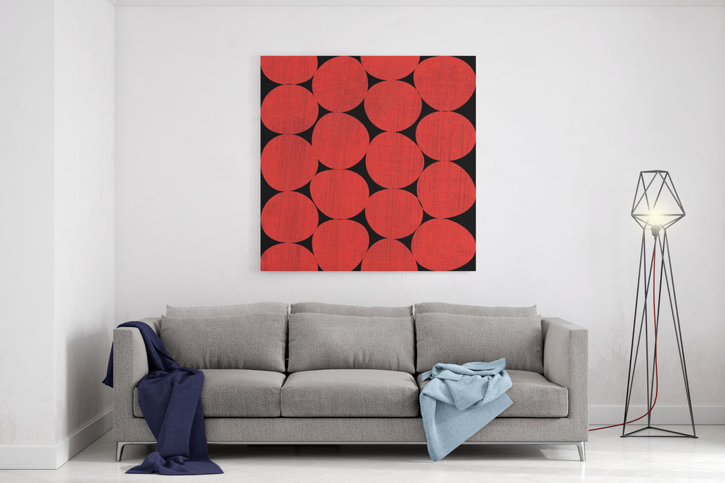 Abstract Painted Design Composition Canvas Wall Art Print