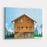 Alpine Chalet Canvas Wall Art Print