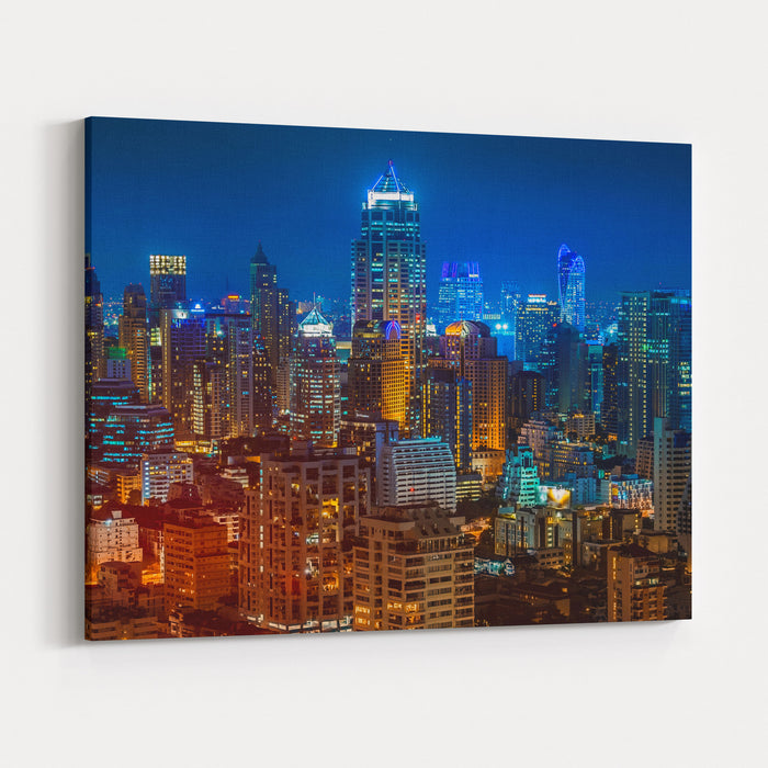 Bangkok Night Canvas Wall Art Print