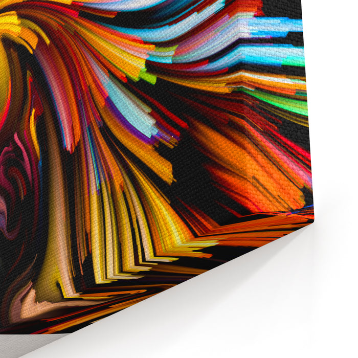 Colors Of Imagination Series Artistic Abstraction Composed Of Streaks Of Color On The Subject Of Art, Creativity, Imagination And Graphic Design Canvas Wall Art Print