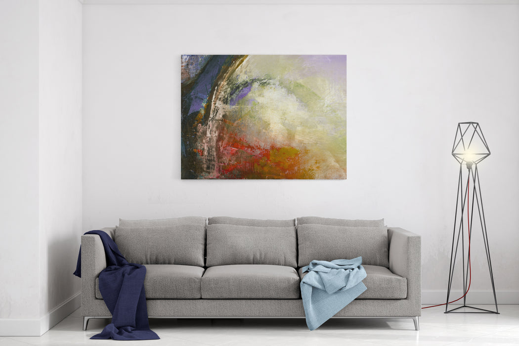 Abstract Bows, Original Painting On Canvas,  Can Be Used As Background Or Poster Canvas Wall Art Print