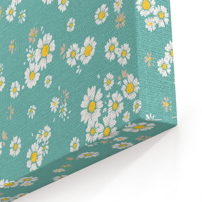 Beautiful Ditsy Floral Seamless Background Canvas Wall Art Print