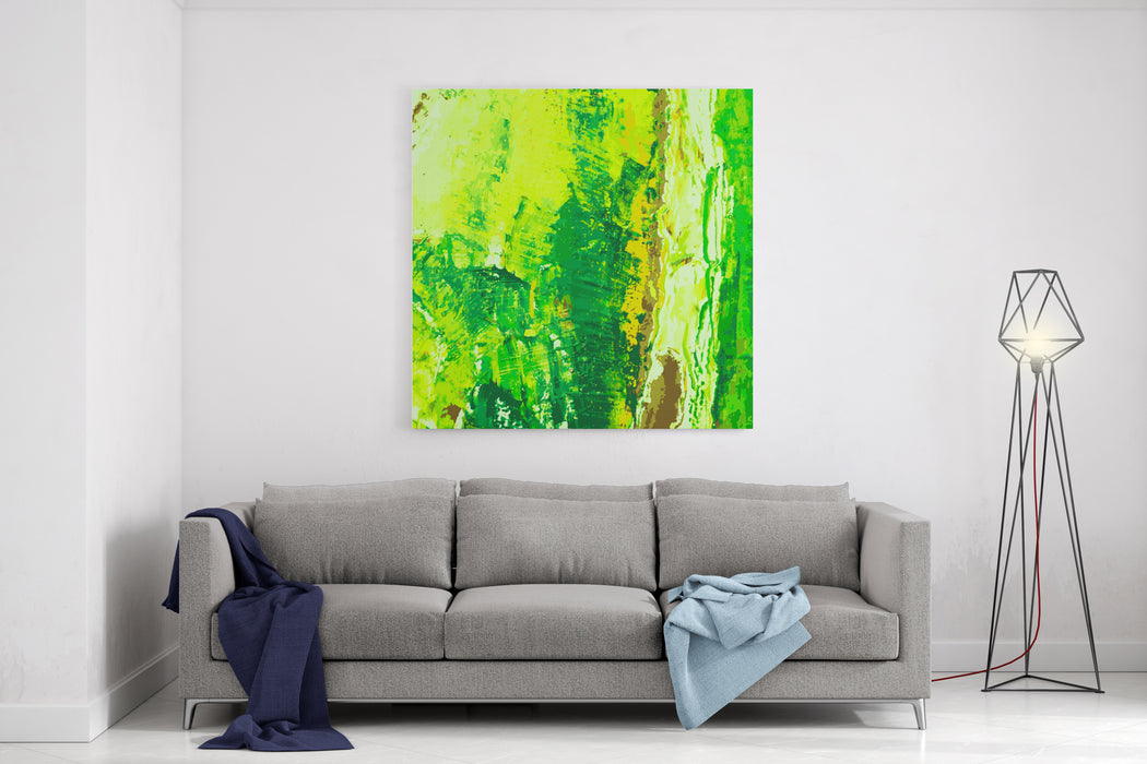 Abstract Hand Draw Oil Painting Composition, Vector Background Canvas Wall Art Print
