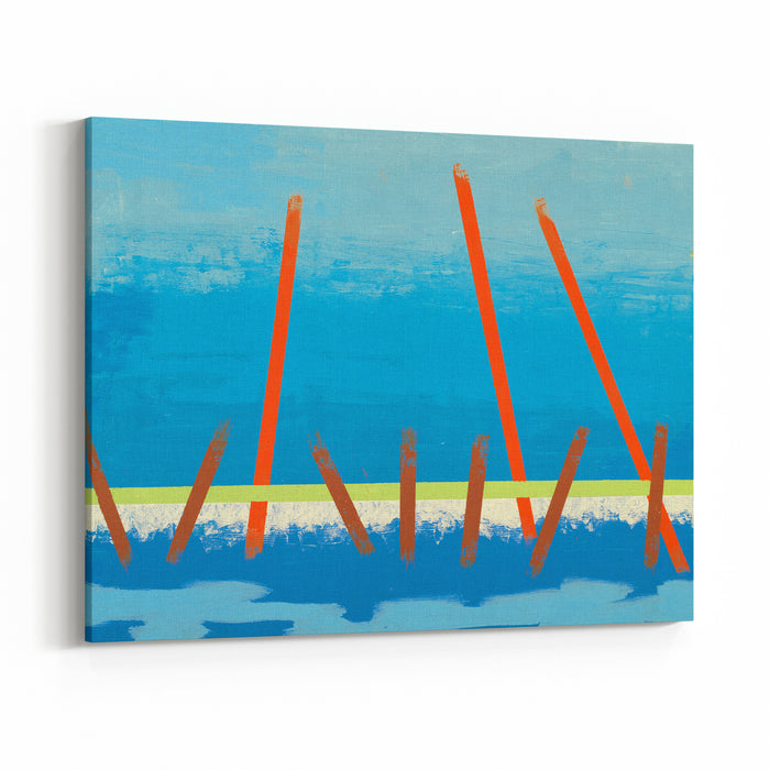 An Abstract Painting Canvas Wall Art Print