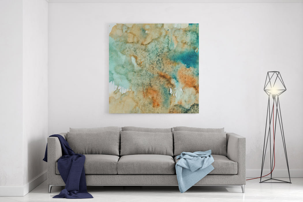 Abstract Background Watercolours Painting Canvas Wall Art Print