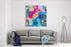 Abstract Bright Background With Different Elements Canvas Wall Art Print
