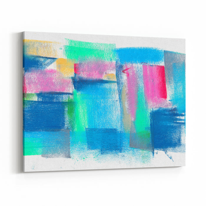 Pastel Painting Creative Abstract Background Hand Drawn Art Backdrop Canvas Wall Art Print