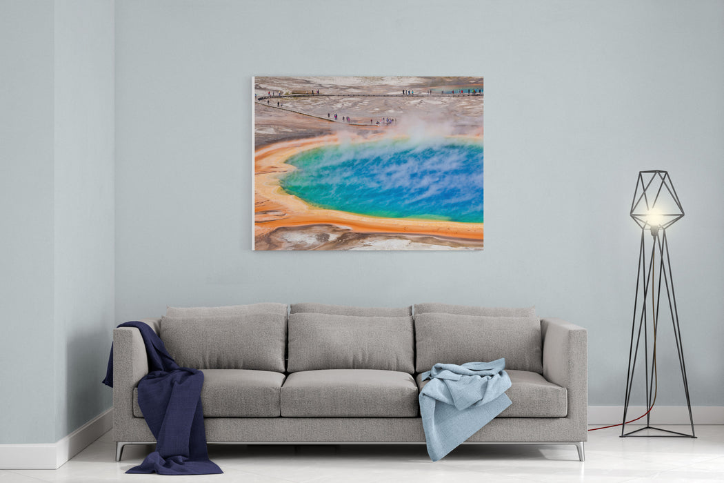Thermal Pool In Yellowstone National Park  USA Canvas Wall Art Print