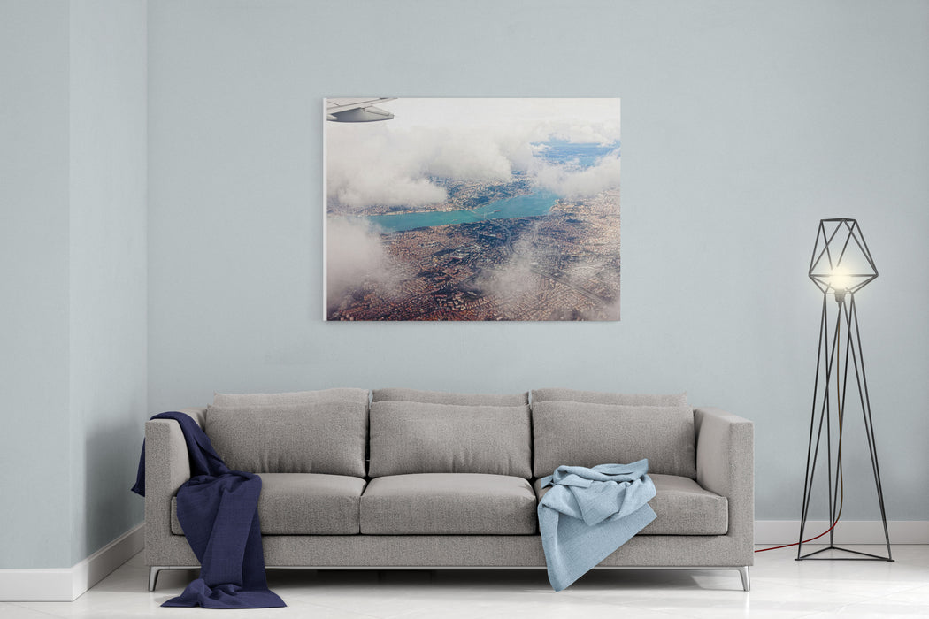 Aerial View Of Istanbul Canvas Wall Art Print