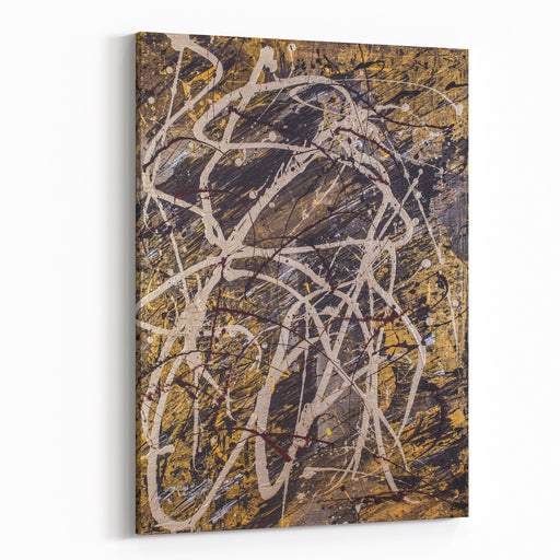 Title Verness  Original Abstract Painting With A Precious Metals Theme Canvas Wall Art Print