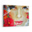 Freehand Painted Bright Color Composition With A Female Face Canvas Wall Art Print