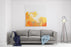 Orange Abstract Painting For Background Canvas Wall Art Print