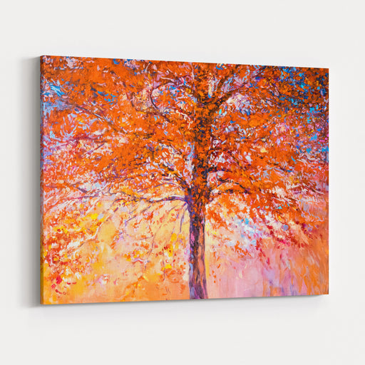 Oil Painting On Canvasred Treemodern Impressionism By Nikolov Canvas Wall Art Print