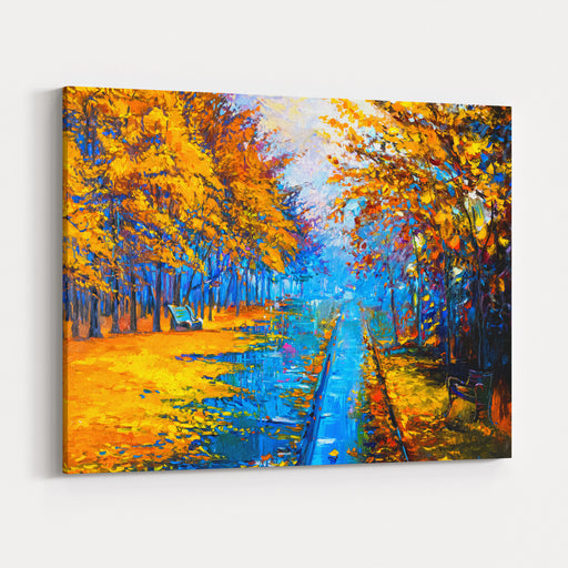 Original Oil Painting On Canvasautumn Landscapemodern Impressionism By Nikolov Canvas Wall Art Print