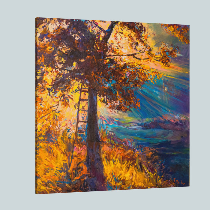 Oil Painting On Canvasshadow Of Treemodern Impressionism By Nikolov Canvas Wall Art Print