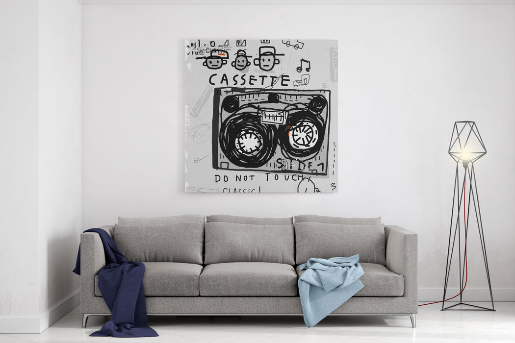 The Symbolic Image Of An Old Audio Cassette Canvas Wall Art Print
