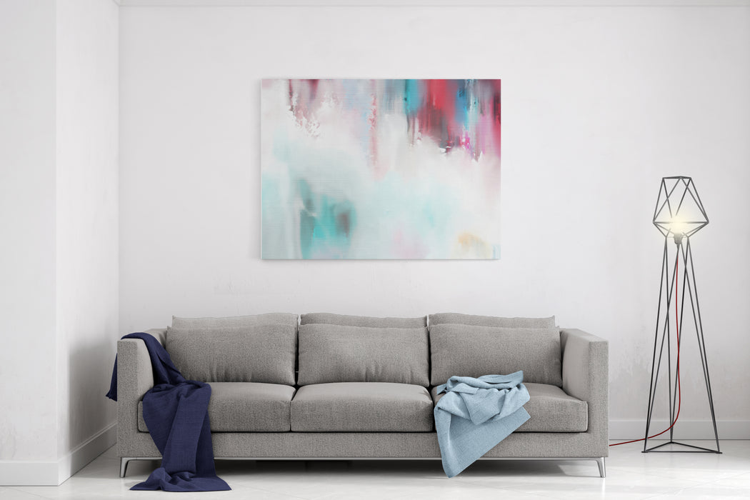 Abstract Watercolour Painting On Canvas Canvas Wall Art Print