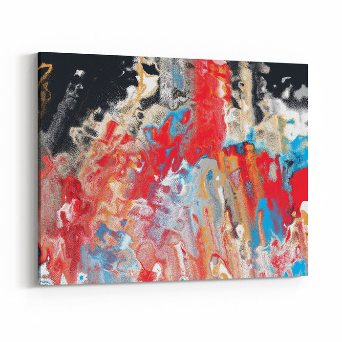 Multicolour Abstract Painting Background Canvas Wall Art Print