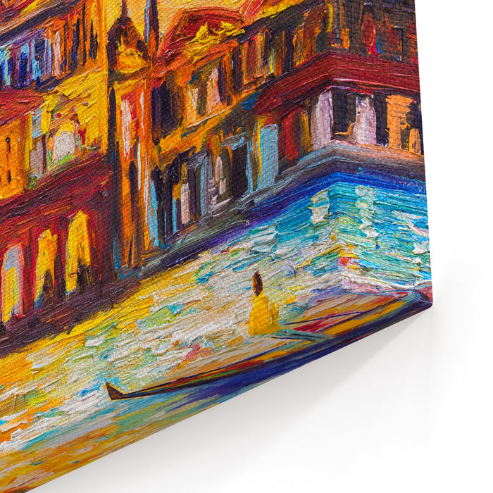 Oil Painting  Venice, Italy Canvas Wall Art Print