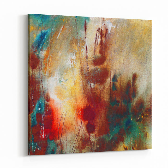 Abstract Painting On Handmade Paper, Artistic Background Canvas Wall Art Print