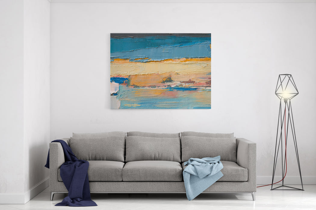 Part Of Oil Painting With Brush Strokes Canvas Wall Art Print