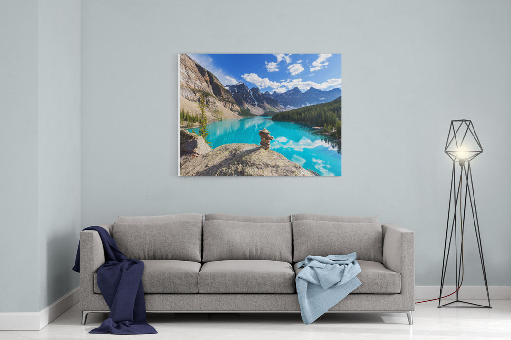 Beautiful Moraine Lake In Banff National Park, Canada Canvas Wall Art Print