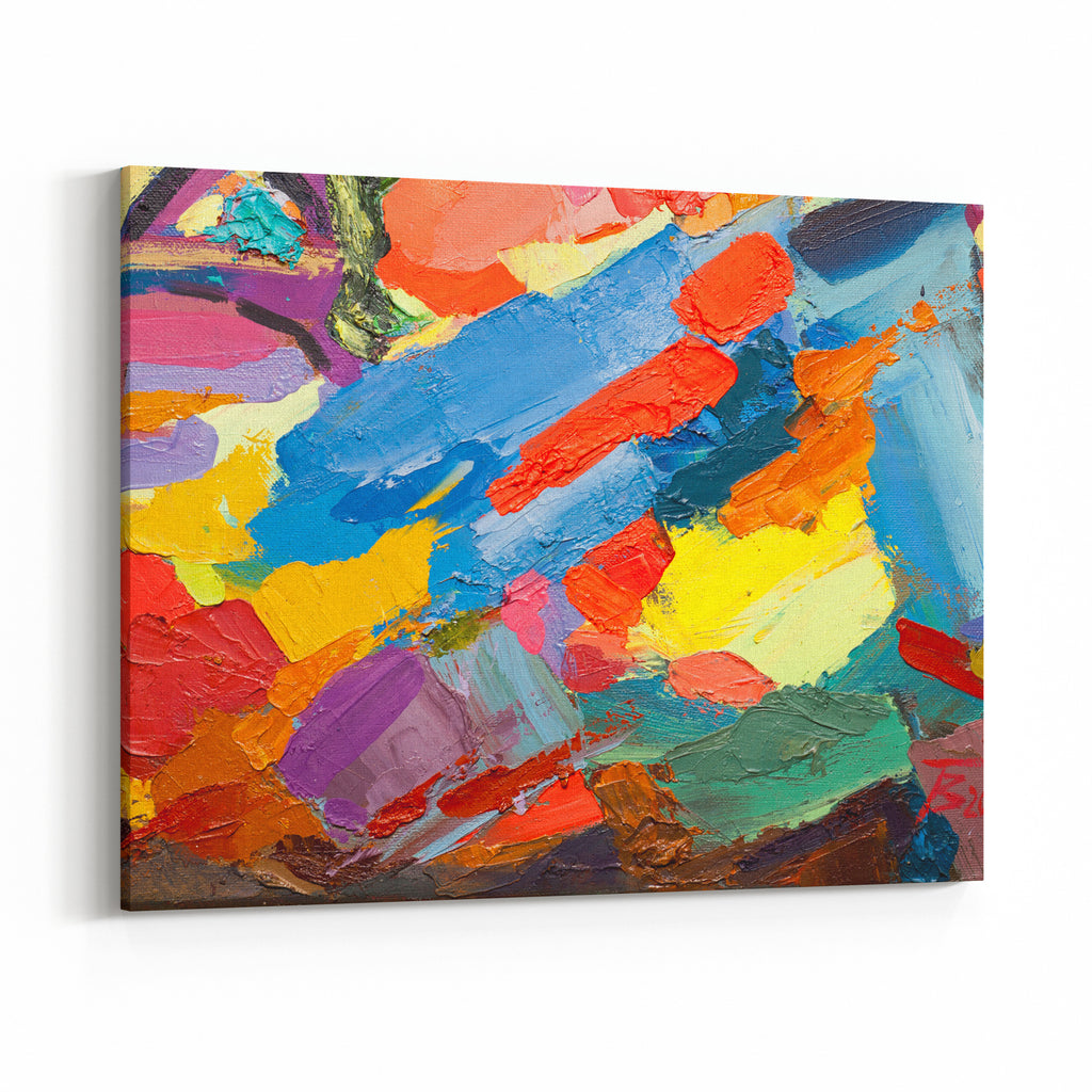 Abstract Art Background Oil Painting On Canvas Multicolor Texturefragment Of Artwork Spots Of Oil Paint Brushstrokes Of Paint Modern Artcontemporary