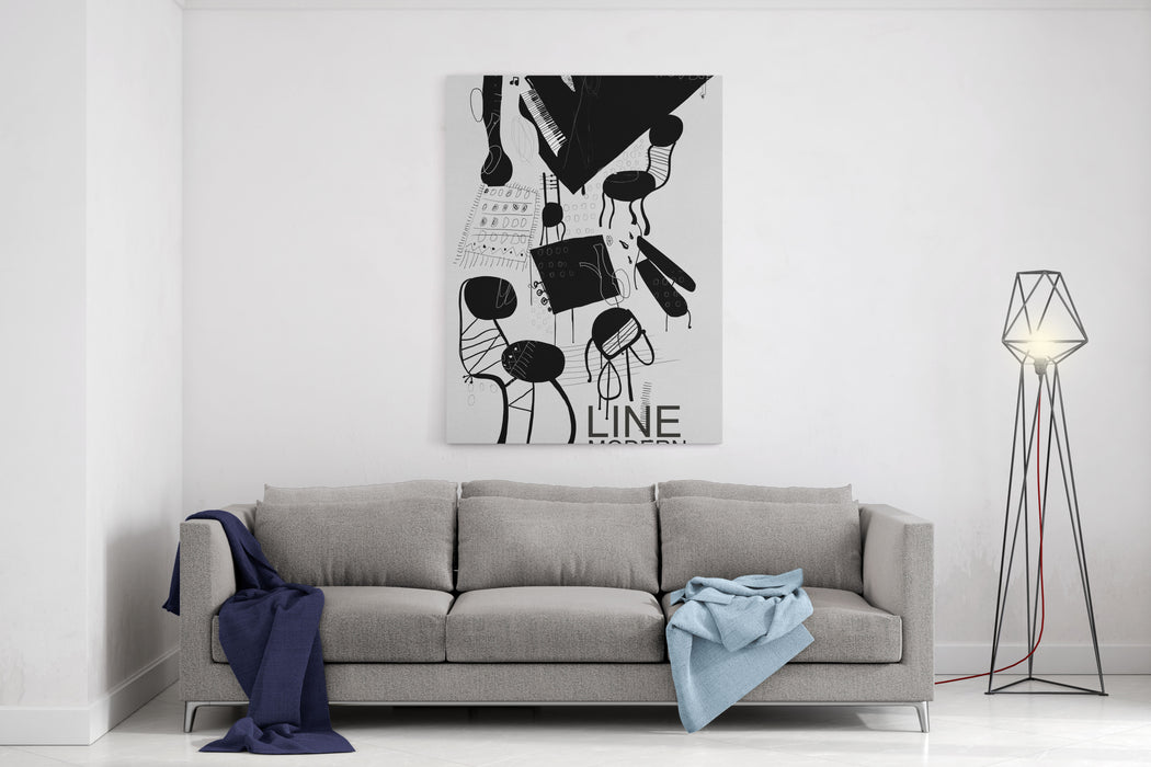 The Symbolic Image Of The Furniture, Which Is In The Room Canvas Wall Art Print