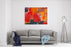 Abstract Colorful Oil Painting On Canvas Canvas Wall Art Print