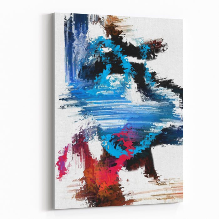 Abstract Expressionism Art Blue