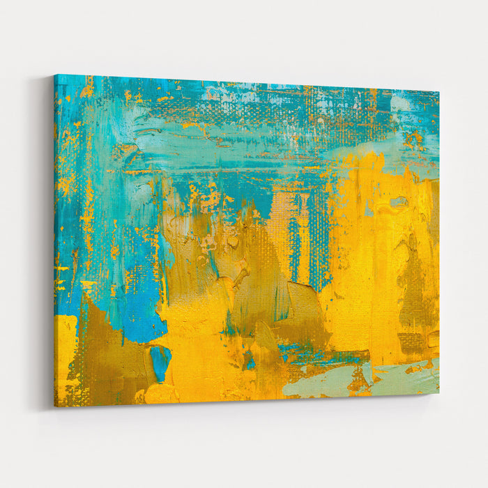 Abstract Art Background Oil Painting On Canvas Multicolored  Bright Texture Fragment Of Artwork Spots Of Oil Paint Brushstrokes Of Paint Modern Art Contemporary Art Canvas Wall Art Print