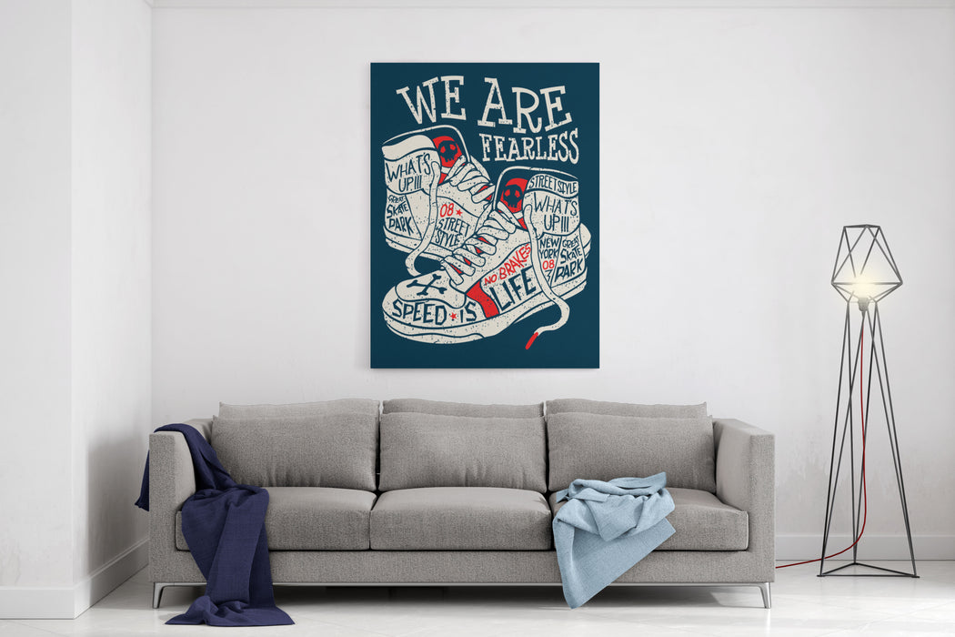 Sneakers Graphic Design For Tee Canvas Wall Art Print