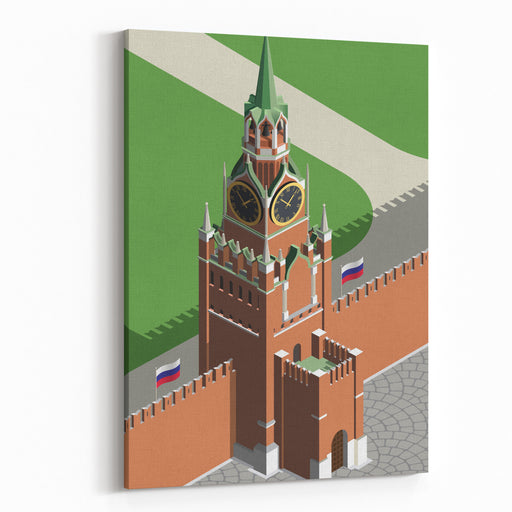 Moscow Kremlin Tower Canvas Wall Art Print