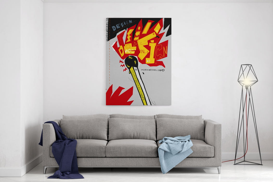 The Symbolic Image Of Matches On Which There Is A Flame Canvas Wall Art Print