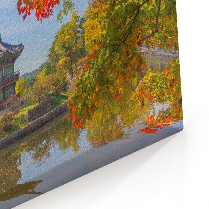 Autumn Of Gyeongbokgung Palace In Seoul ,Korea Canvas Wall Art Print