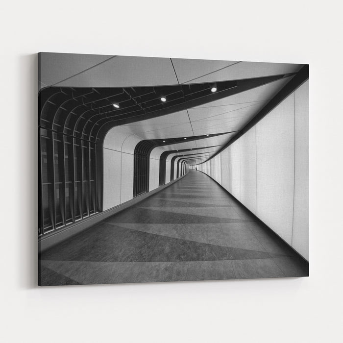 A Cool Underground Path Of Kings Cross Train Station, London, UK Canvas Wall Art Print